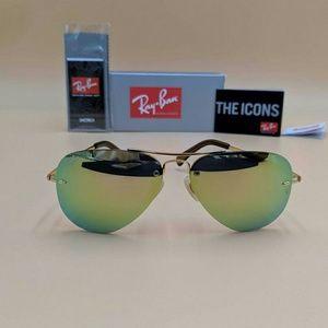 Green Flash Mirrored RB3449 Sunglasses!!